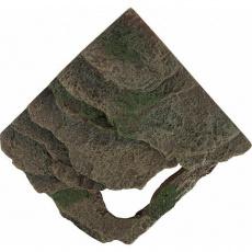 Rohová skála s jeskyní - deštný prales  14x11x14 cm