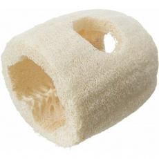 Tunel prolézací / na pamlsky, hračka pro hlodavce, lufa, ø 7 × 10 cm