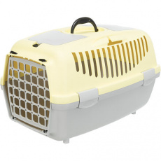 Transportní box CAPRI II, XS-S: 37x34x55cm max.do 8kg - tmavě šedá/žlutá - DOPRODEJ