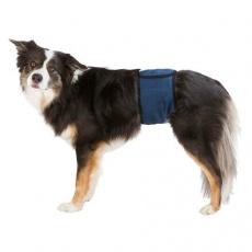 Břišní pás na podložky pro psa samce S 29-37 cm tmavě modrý