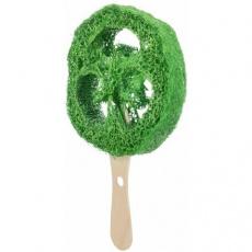 Lízátko, hračka pro hlodavce, dřevo/lufa, 6 x 12cm