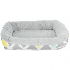 Hebký plyšový pelíšek pro hlodavce, 38 x 6 x 25 cm, barevná/šedá