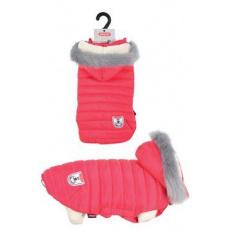 Obleček prošívaná bunda pro psy URBAN červená 30cm Zol