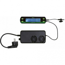 Termostat, digitální, dva okruhy 16 x 4 cm (RP 1,50 Kč)