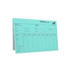 Karta pes - modrá A4