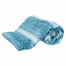 Vánoční deka LUMI modro-bílá