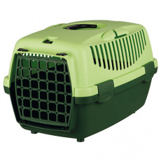 Transportní box CAPRI I, XS: 32x31x48cm max.do 6kg - tmavě zelená/světle zelená