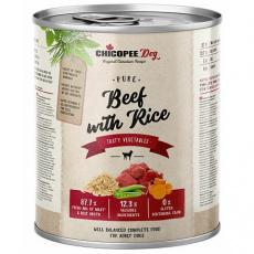 CHICOPEE ADULT čisté hovězí s rýží konzerva pro psy 800 g