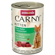 ANIMONDA konzerva CARNY Kitten - hovězí, kuře, králík 400g