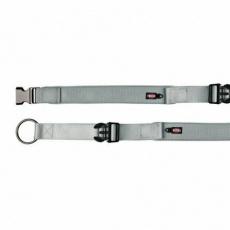 Obojek EXPERIENCE extra široký M-L 37-50 cm/30 mm,  - stříbrný - DOPRODEJ