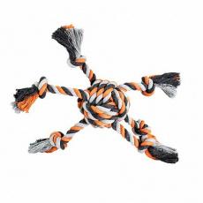 Míč OCTOPUS HipHop bavlněný 6 ramen 8 cm, 160 g šedá, tm.šedá, oranžová
