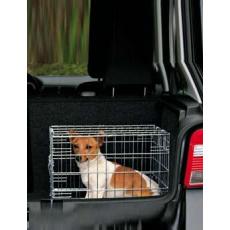 Klec do auta pro psa kovová 64x54x48cm /2x dveře TR