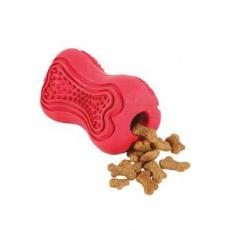 Hračka pes TITAN gumová kost S červená Zolux