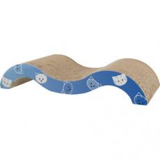 MIMI škrábací karton vlna 50x9x23 cm modrá