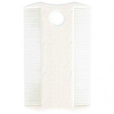 Hřeben plastový velmi jemný na blechy a prach 9 cm