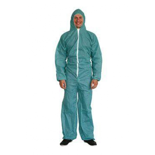 Oblek hygienický s kapucí/kombinéza/ M CVET 1ks