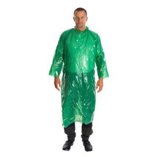 Plášť jednorázový ochranný zelený KRUTEX 130cm 25ks