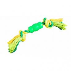 Uzel s chráničem HipHop bavlněný 2 knoty 30 cm / 130 g limetková, zelená