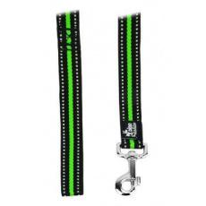 Vodítko DINOFASHION reflexní zelené 160/2,5cm