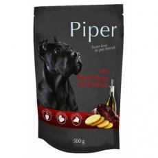 PIPER s hovězími játry a bramborami, kapsička pro psy 500g