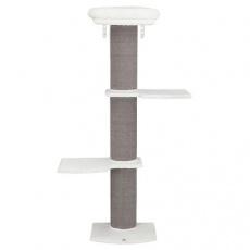 Škrábadlo ACADIA, 3posty, montovatelné ke zdi, 160cm, šedé