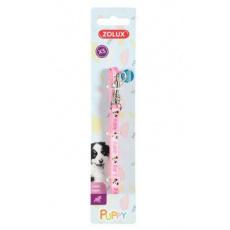 Obojek pes štěně MASCOTTE nastavitelný růžový 13mm Zol