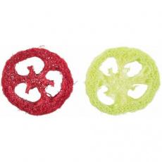 Set koleček - 2ks, hračka pro hlodavce, lufa, 6 cm