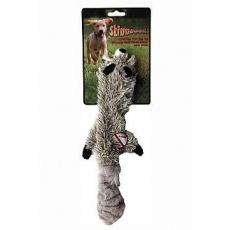 Hračka pes Mýval pískací 38cm Skinneeez