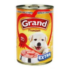 GRAND konz. štěně Extra kuř.kousky 405g