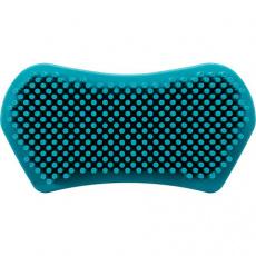 Masážní kartáč, přírodní guma, 6x12cm, tyrkysová - DOPRODEJ