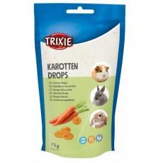 CARROT DROPS - mrkvové dropsy, pamlsek pro hlodavce,75 g