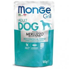MONGE GRILL kapsička s treskou pro psy 100 g