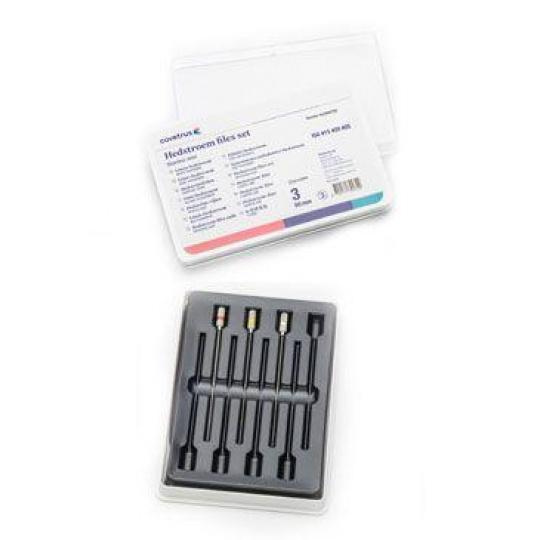 Hedstroem files set, nerez 60mm (ISO #15-20-25), 3ks