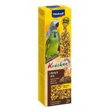 Vitakraft Bird Kräcker parrot African  honey  tyč 2ks