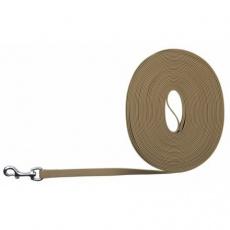 Easy Life trekové vodítko PVC 10,00 m/17 mm,  taupe-šedé - DOPRODEJ