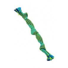 Hračka pes BUSTER Pískací lano, modrá/zelená, 35cm, M