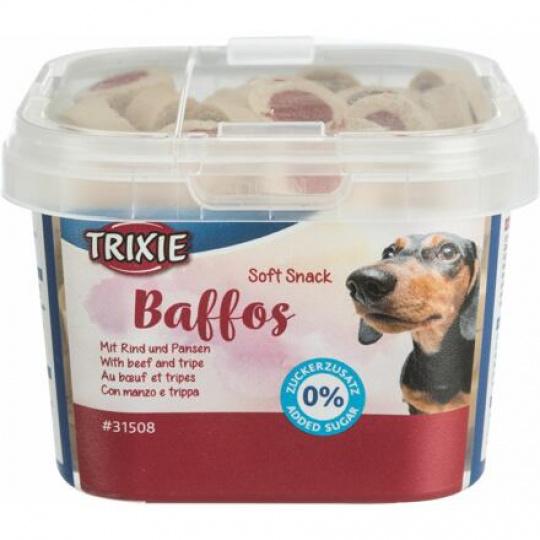 Soft Snack BAFFOS mini kolečka hovězí, dršťky, plastový kelímek 140 g