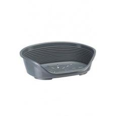 Pelech plast SIESTA DLX 8 tm.šedý 82x59,5x25cm FP 1ks
