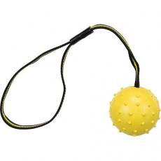SPORTING míč tvrdý na nylon.pásku, přírodní guma 6 cm/35 cm