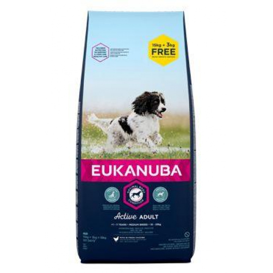 Eukanuba Dog Adult Medium 18kg BONUS