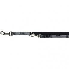 Vodítko prodlužovací EXPLORE S-M 2 m/20 mm černé/reflexní - DOPRODEJ