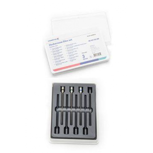 Hedstroem files set, nerez 60mm (ISO #30-35-40), 3ks