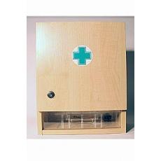 Lékárnička nástěnná dřevěná bílá do 15 osob