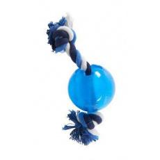 Hračka pes BUSTER Strong Ball s provazem sv. modrá, L