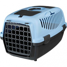 Transportní box CAPRI II, XS-S: 37x34x55cm max.do 8kg  - světle šedá/modrá