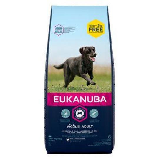 Eukanuba Dog Adult Large 18kg BONUS