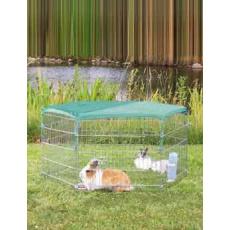 Síť k ohrádce pro králíky zelená/oko 1x1cm 1ks