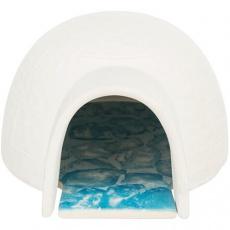 Igloo s chladící keramickou deskou,  13 x 9 x 15 cm, bílá