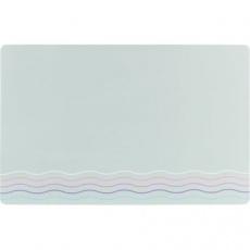 Prostírání pod misky WAVES, 44 x 28 cm, šedá / vlnky