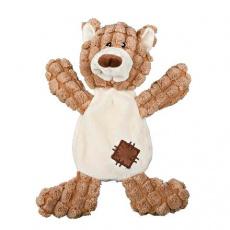Plyšový medvěd se záplatami, se zvukem 30 cm - DOPRODEJ